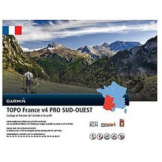 Garmin Topo Frankreich V4 PRO Süd-West (microSD/SD) - Karte