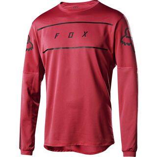 Fox Flexair LS Fine Line Jersey, cardinal - Radtrikot