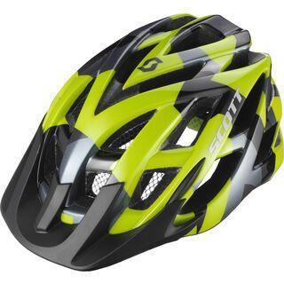 Scott Spunto, lime green camo - Fahrradhelm