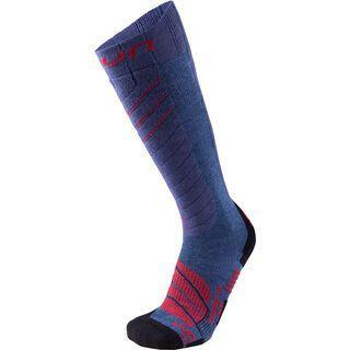 UYN Comfort Fit Ski Socks jeans melange/red