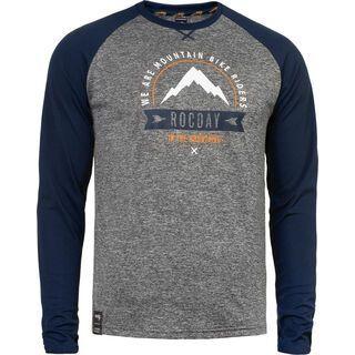 Rocday Mount Jersey, melange / dark blue - Radtrikot