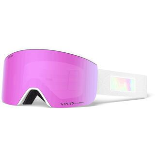 Giro Ella inkl. WS, white iridescent/Lens: vivid pink - Skibrille