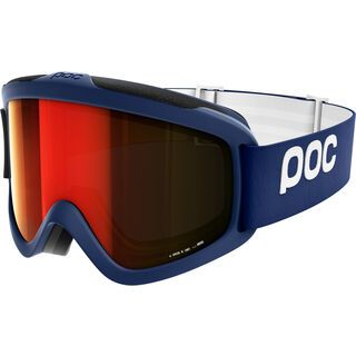 POC Iris X, blue/Lens: persimmon red mirror - Skibrille