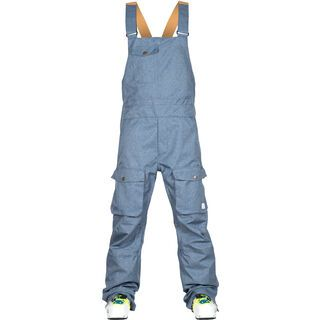 WearColour Bib Pant, denim blue - Skihose