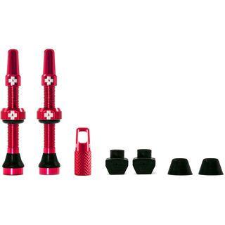 Muc-Off Tubeless Presta Valve - 44 mm red