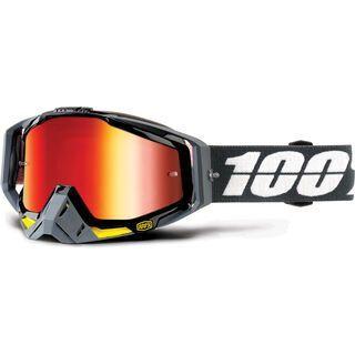 100% Racecraft inkl. Wechselscheibe, fortis/Lens: mirror red - MX Brille