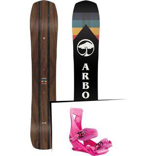 Set: Arbor A-Frame 2019 + Nitro Zero muted brights series raspberry