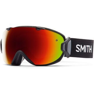 Smith I/Os + Spare Lens, black/red sol-x mirror - Skibrille