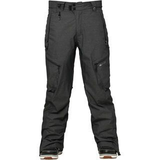 686 Glacier Synth Thermagraph Pant, Black Heather Twill - Snowboardhose