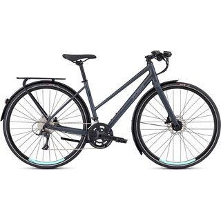 Specialized Women's Sirrus Sport Step-Through EQ - Black Top Collection 2019, grey/turquoise - Fitnessbike