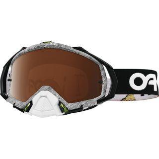 Oakley Mayhem Pro MX, thumbprint black/white/Lens: black iridium - MX Brille