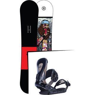 Set: Ride Crook Wide 2017 + Ride Revolt, black - Snowboardset