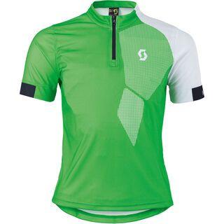 Scott Junior Trail 40 s/sl Shirt, classic green/white - Radtrikot