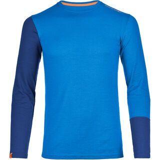 Ortovox Merino 185 Rock'n'Wool Long Sleeve, blue ocean - Unterhemd