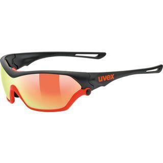 uvex sportstyle 705 inkl. Wechselscheibe, black mat orange/Lens: mirror orange - Sportbrille