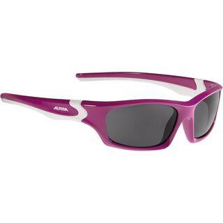 Alpina Flexxy Teen, berry-white/Lens: ceramic black - Sportbrille