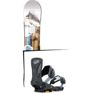 Set: Nitro Team Exposure Gullwing Wide 2017 + Ride Capo 2015, matte olive - Snowboardset