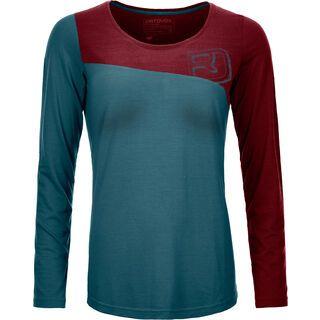 Ortovox 150 Cool Logo Long Sleeve W, mid aqua - Funktionsshirt