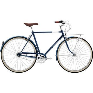Creme Cycles Caferacer Man Solo, 3 Speed 2016, deep blue - Cityrad