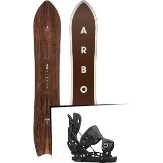Set: Arbor Clovis 2017 + Flow NX2 2016, black - Snowboardset