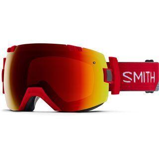 Smith I/OX inkl. Wechselscheibe, fire split/Lens: sun red mirror chromapop - Skibrille