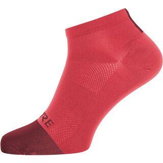 Gore Wear M Light Socken Short hibiscus pink/chestnut red