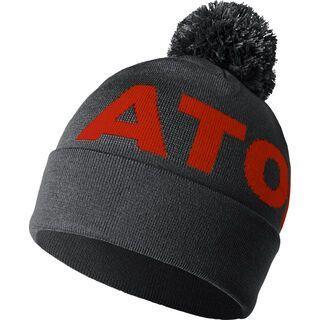 Atomic Alps Pom Beanie, dark grey/dark red - Mütze