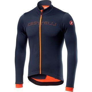 Castelli Fondo Jersey FZ, dark steel/orange - Radtrikot