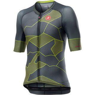 Castelli Climber's 3.0 Jersey, dark gray yellow fluo - Radtrikot