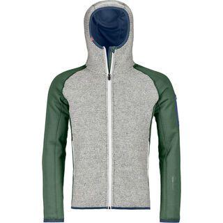 Ortovox Merino Fleece Plus Classic Knit Hoody M, green forest - Fleecehoody