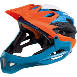 Alpina King Carapax, orange blue - Fahrradhelm