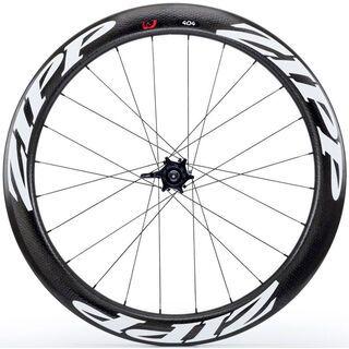 Zipp 404 Firecrest Tubular Disc-brake, schwarz/weiß - Hinterrad