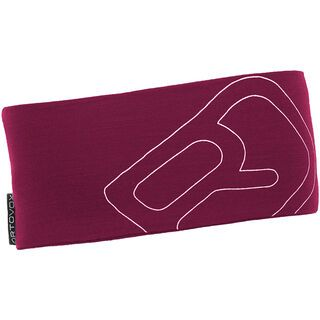 Ortovox Merino Cool Logo Headband, dark very berry - Stirnband