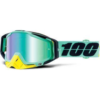 100% Racecraft inkl. Wechselscheibe, kloog/Lens: mirror green - MX Brille
