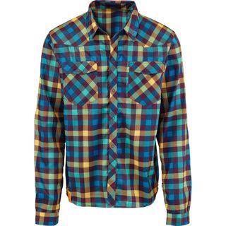 Scott Shirt Button Roarban l/sl, dark violent/gold - Radtrikot
