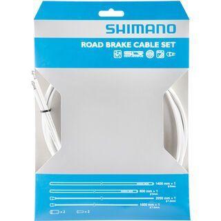 Shimano Bremszug-Set Road Sil-Tec beschichtet, weiß