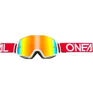 ONeal B-20 Goggle Flat, red/white/Lens: radium red - MX Brille
