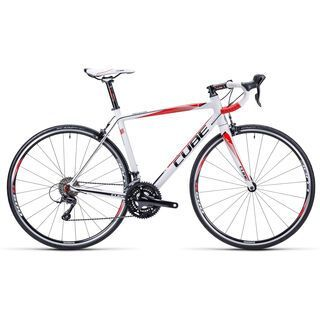 Cube Peloton Pro 2015, white/red/black - Rennrad