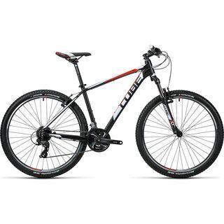 *** 2. Wahl *** Cube Aim 27.5 2016, black´n´red - Mountainbike   Größe 18 Zoll