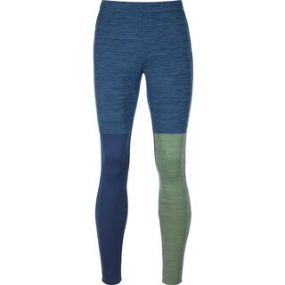 Ortovox Merino Fleece Light Long Pants M, night blue blend - Unterhose