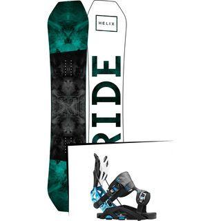 Set: Ride Helix 2017 + Flow Fuse-GT 2016, black/blue - Snowboardset
