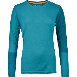 Ortovox 185 Merino Rock'n'Wool Long Sleeve W, aqua - Unterhemd