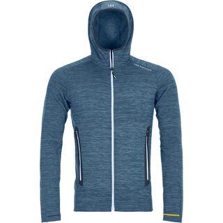 Ortovox Merino Fleece Light Melange Hoody M, night blue blend - Fleecejacke
