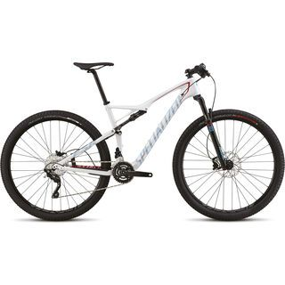 Specialized Epic Comp Carbon 2015, Gloss White/Red/Black/Cyan - Mountainbike