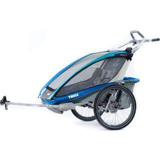 Thule Chariot CX 2 inkl. Fahrrad-Set, blau - Fahrradanhänger