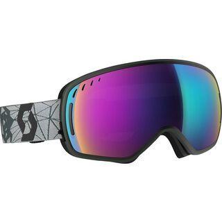 Scott LCG, grey/black/Lens: solar teal chr - Skibrille