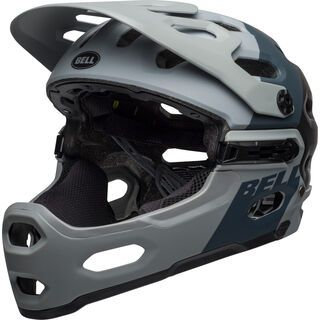 Bell Super 3R MIPS Downdraft, gray/gunmetal - Fahrradhelm