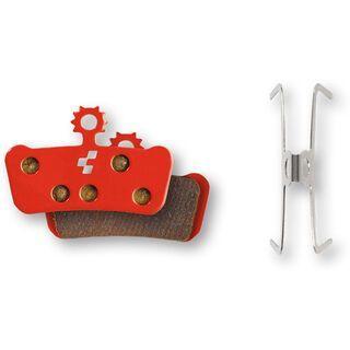 Cube Scheibenbremsbelag Avid Elixir/Trail/X0/X9/X7, SRAM Guide R - gesintert red