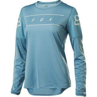 Fox Womens Flexair LS Jersey, light blue - Radtrikot