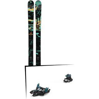 Set: Line Chronic 2018 + Marker Alpinist 9 black/turquoise